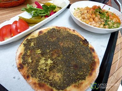 Manakeesh and Msabaha at Azzam Restaurant - Neukölln, Berlin