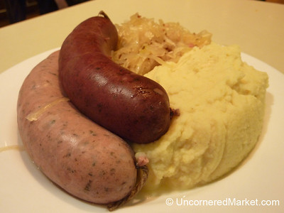 Light Lunch of Blutwurst and Leiberwurst - Berlin, Germany