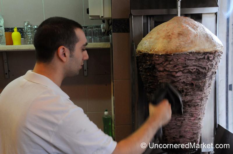 Shaving Away the Döner Meat - Berlin, Germany
