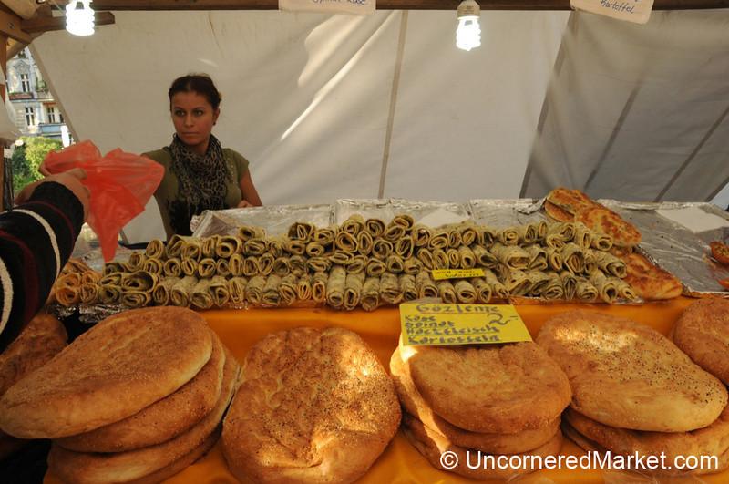 Turkish Gozleme and Flat Bread - Kreuzberg Market, Berlin