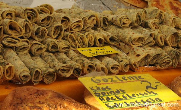 Gozleme for Sale at the Kreuzberg Market - Berlin, Germany