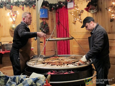 Bratwurst on the Grill - Gendarmenmarkt Christmas Market, Berlin