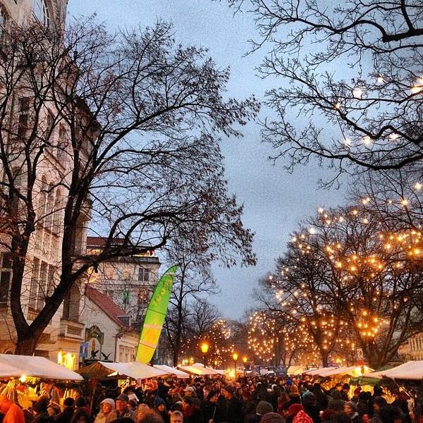 First Christmas market of the season. 1€ glühwein...wee!Alt-Rixdorf, #Berlin