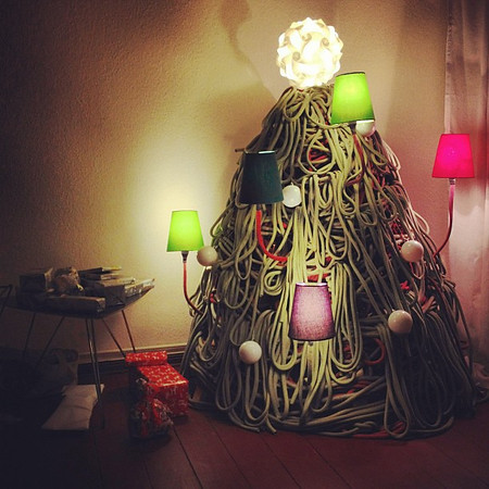 Wishing you a very Merry Christmas, if you're celebrating. (via our friend's funky Swedish xmas tree)