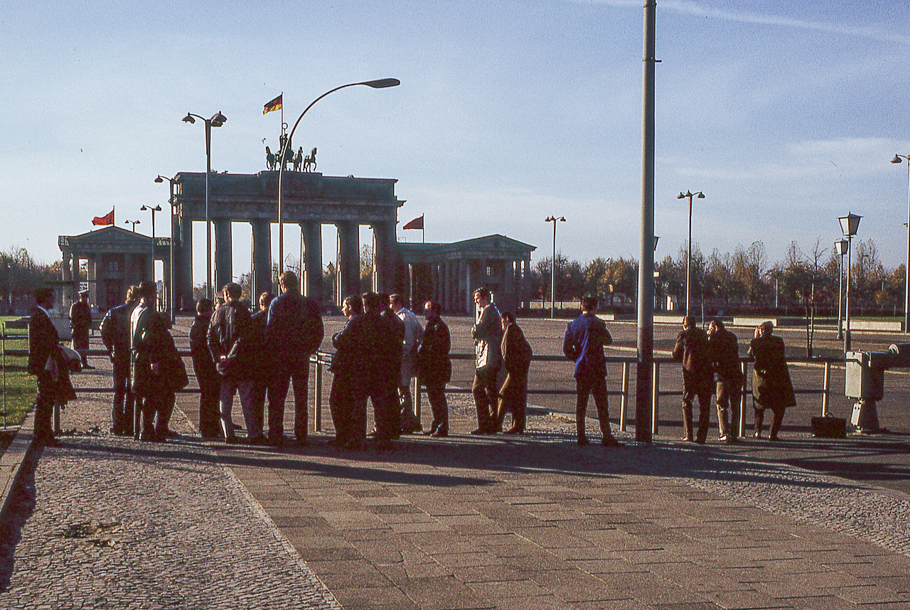Stanford Students at Brandenburg Gate (East)