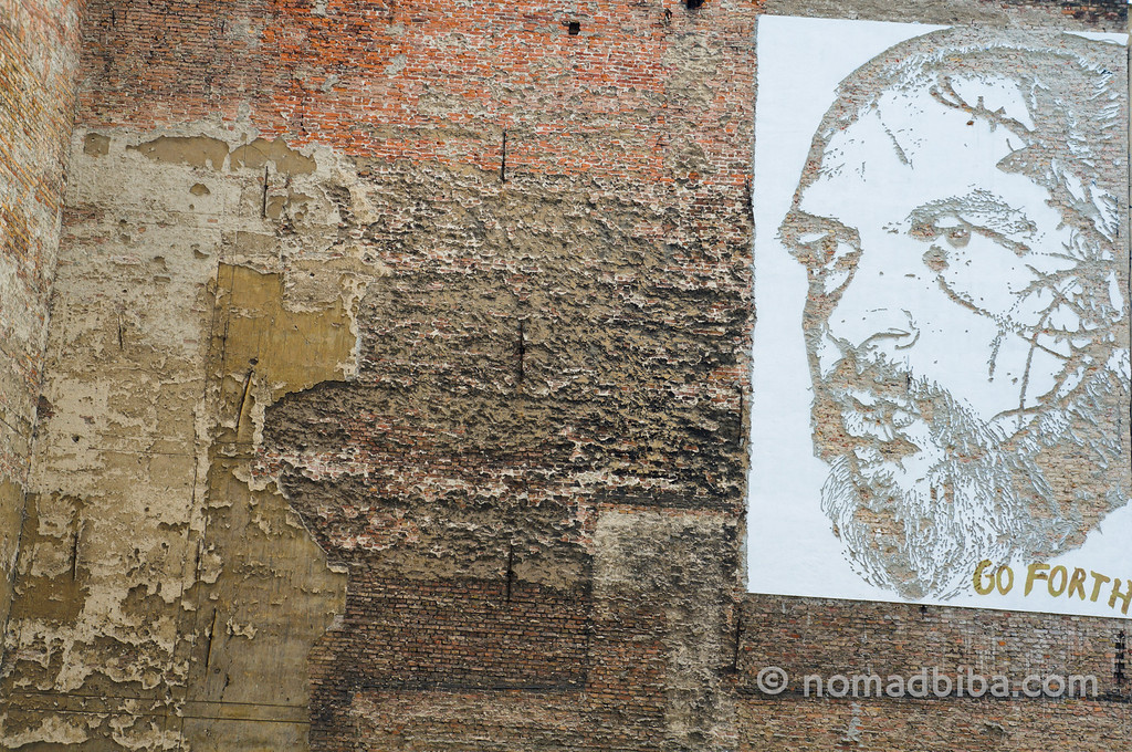 Vhils street art in Berlin