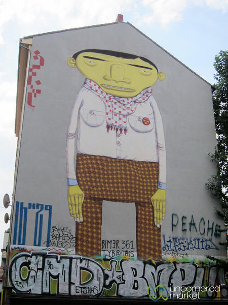 Kreuzberg Street Art, Brazilian Artists Os Gêmeos, Yellow Skin - Berlin