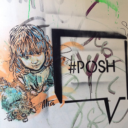 Posh? You know it's getting bad when #hashtags make their way into #graffiti #Berlin