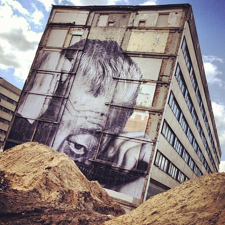 Wrinkles of the City, Berlin street art from JR