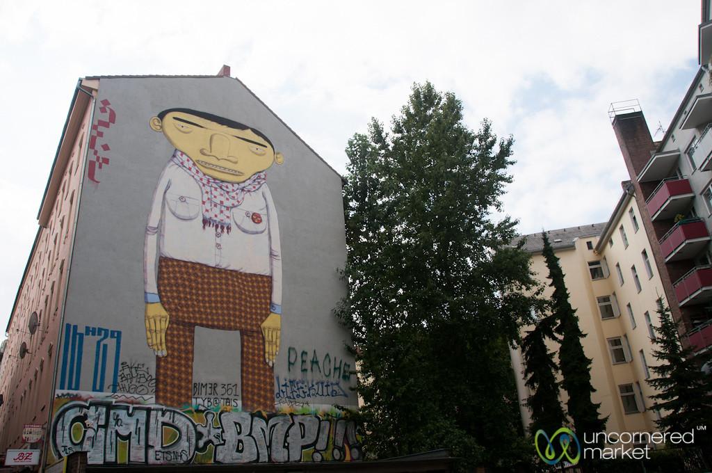 Kreuzberg Street Art, Brazilian Artists Os Gêmeos, Yellow Skin - Berlin