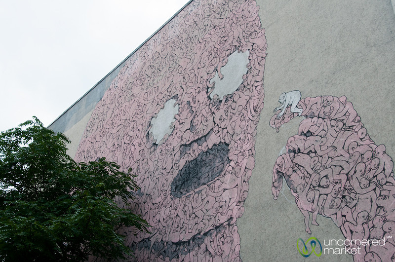 Kreuzberg Street Art, Humans Piece by Blu - Berlin