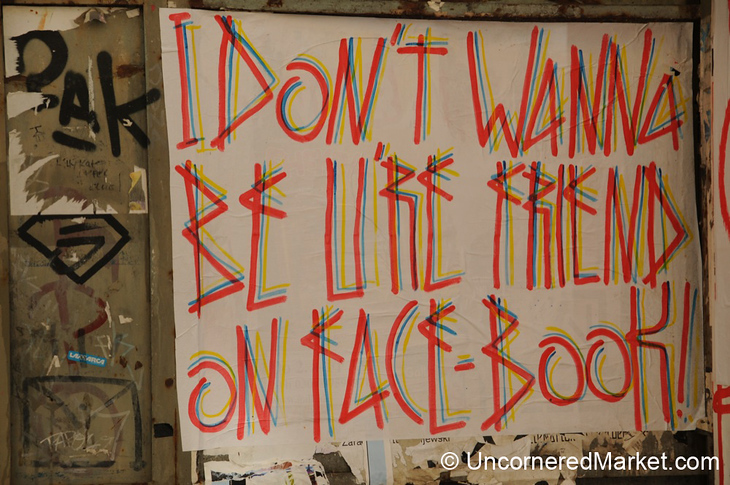 Anti-Facebook Poster in Mitte, Berlin