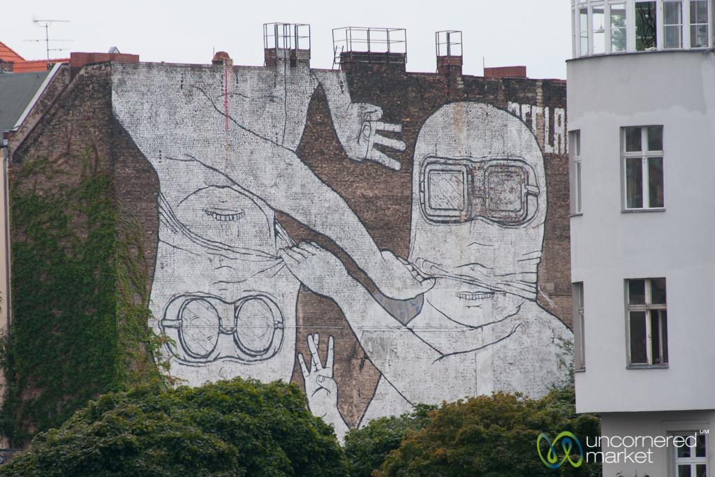 Street Artist Blu, East Meets West - Kreuzberg/Friedrichshain, Berlin