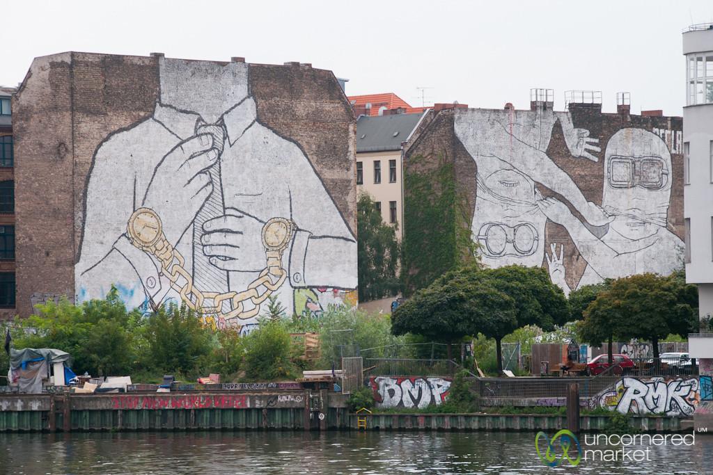 Artist Blu Street Art on the Border of Kreuzberg/Friedrichshain, Berlin