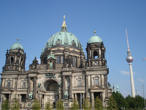 Berlin Cathedral and Television Tower, Berlin - Germany