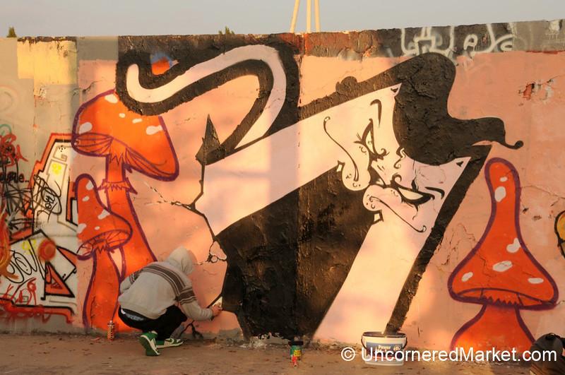 Street Art Work in Progress - Berlin, Germany