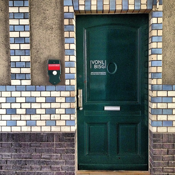Favorite doorway candidate #28. Checkered glazed tile, turn of the century fabrik (factory) style. Berlin #Kreuzberg