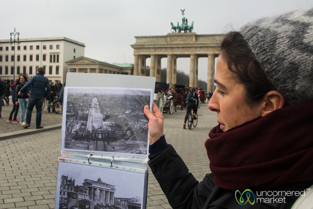 Historical Perspective on Brandenburg Gate during Story of Berlin Context Tour