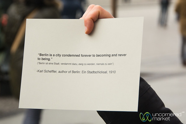 Berlin Quote Kicks Off our Story of Berlin Context Tour