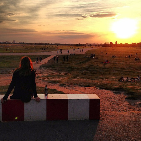 Open spaces, long horizon. A gaze, a beer, a sunset. A space 100 acres larger than New York's Central Park. Old Tempelhof Airport. A Berlin silhouette.
