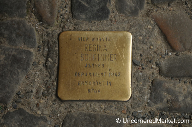 """""""Stumbling Block"""" Marks Where A Berliner Deported During the Holocaust Once Lived"""