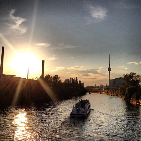 Sailing into a Berlin sunset
