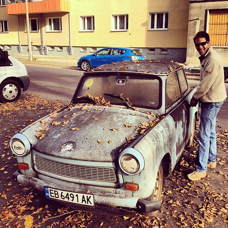 Eyeing a new set of wheels. How far can she go? #trabant #Berlin