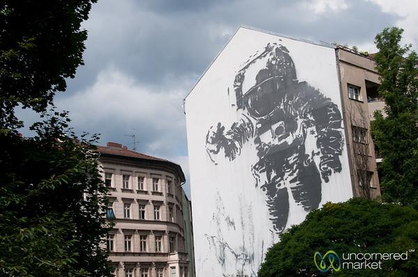 Kreuzberg Street Art, Floating Astronaut by Victor Ash - Berlin