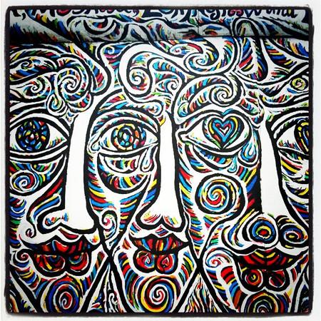 Berlin Wall art. East Side Gallery.