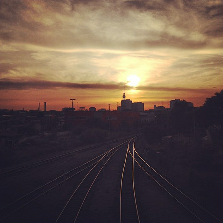 "A Berlin white-ish night sunset over the railroad tracks reminds me: ""If you do not change direction, you may end up where you are heading."" via Instagram http://ift.tt/1zdZ6S0"