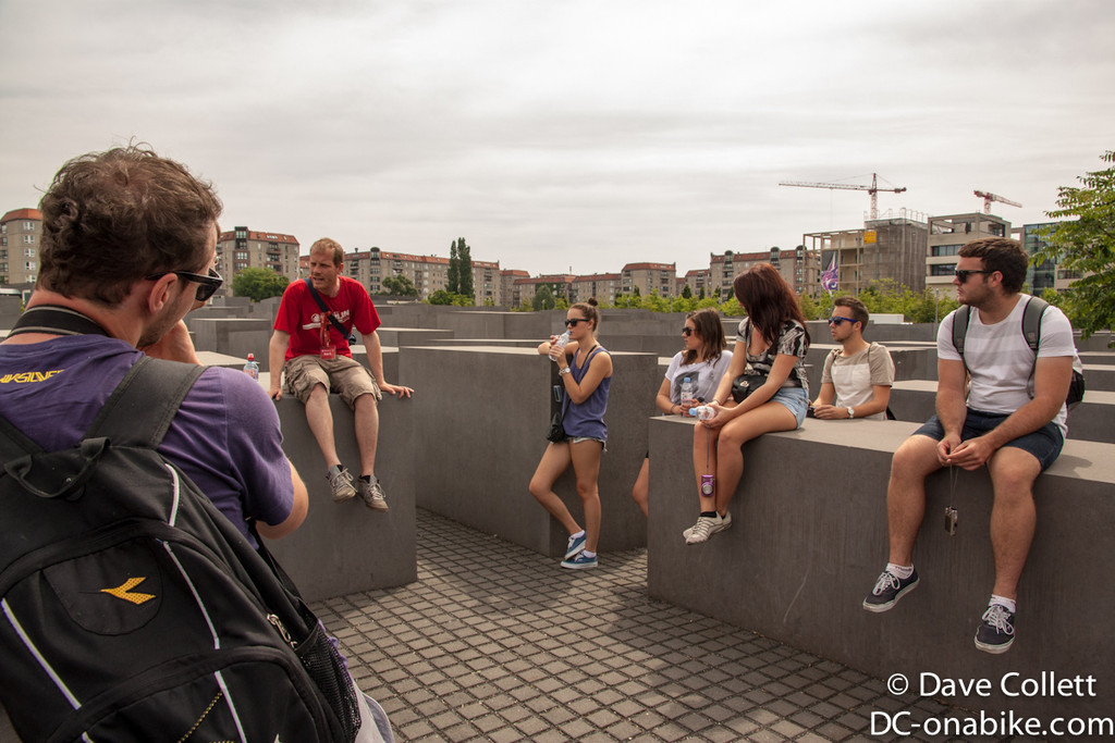 Tour group at the Holocaust Memorial