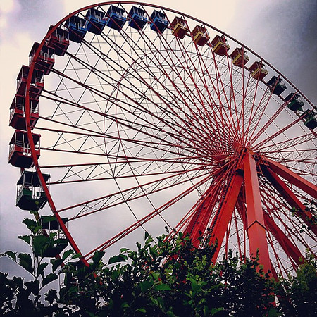 Ferris wheel at Spreepark, the abandoned GDR-era amusement park