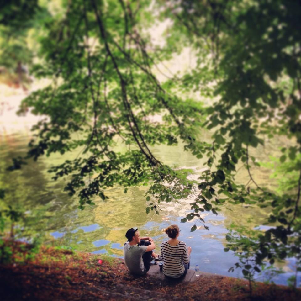 A moment along the Maybachufer, Landwehr Canal -- Kreuzberg, Berlin