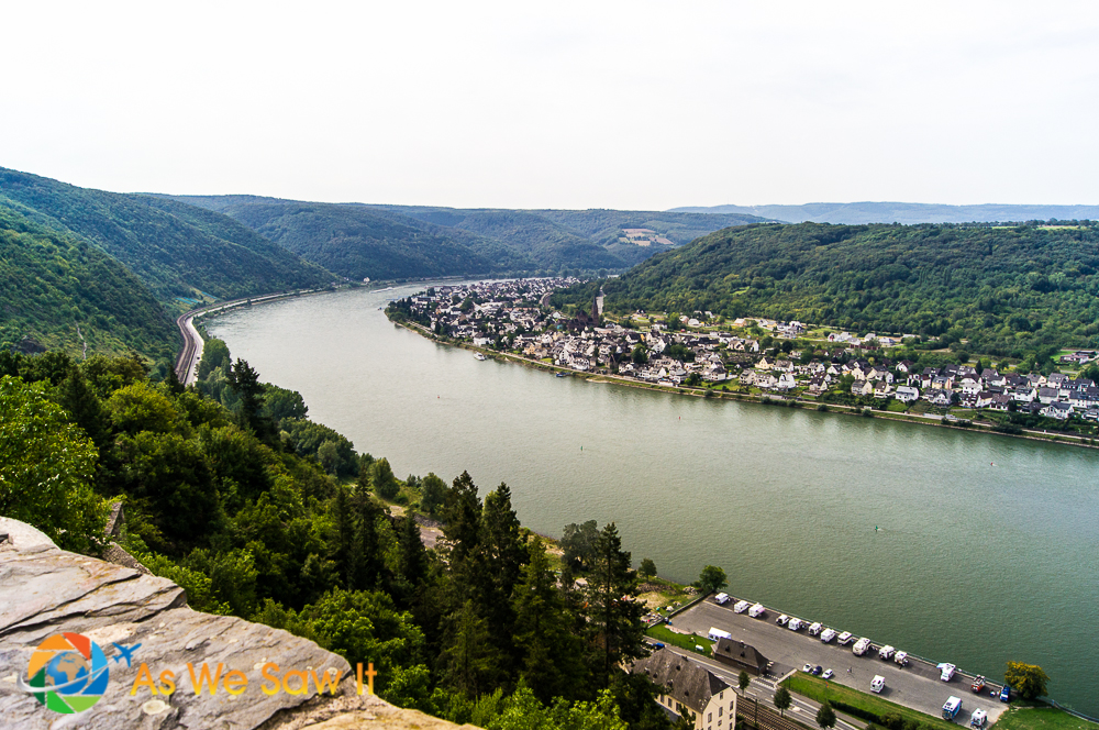 View of the Rhine River from Marksburg Castle.