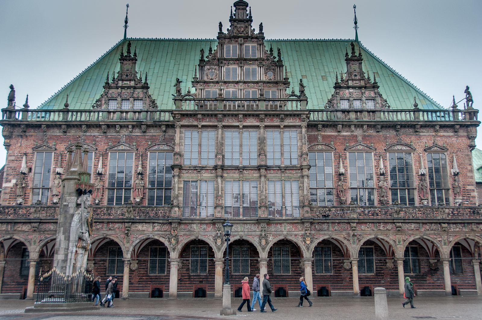 Town Hall and Roland on the Marketplace of Bremen World Heritage Site