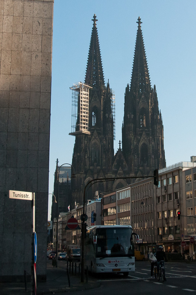 View of the Cologne Cathedral from afar - Cologne, Germany