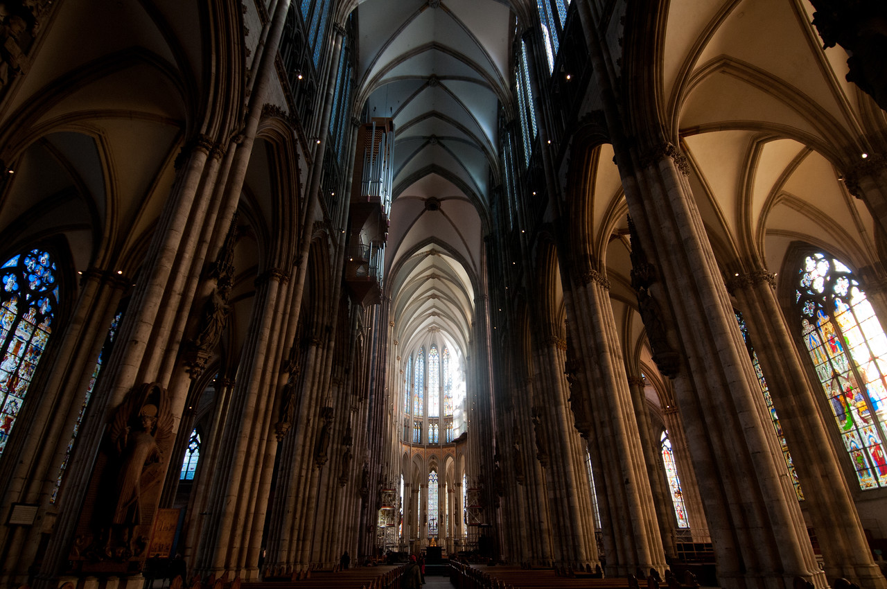Looking down the main aisle of Cologne Cathedral - Cologne, Germany