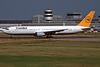 D-ABUZ Boeing 767-330ER c/n 25209 Dusseldorf/EDDL/DUS 17-07-96 (35mm slide)