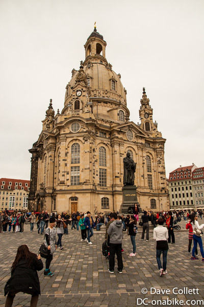 Rebuilt church in Dresden