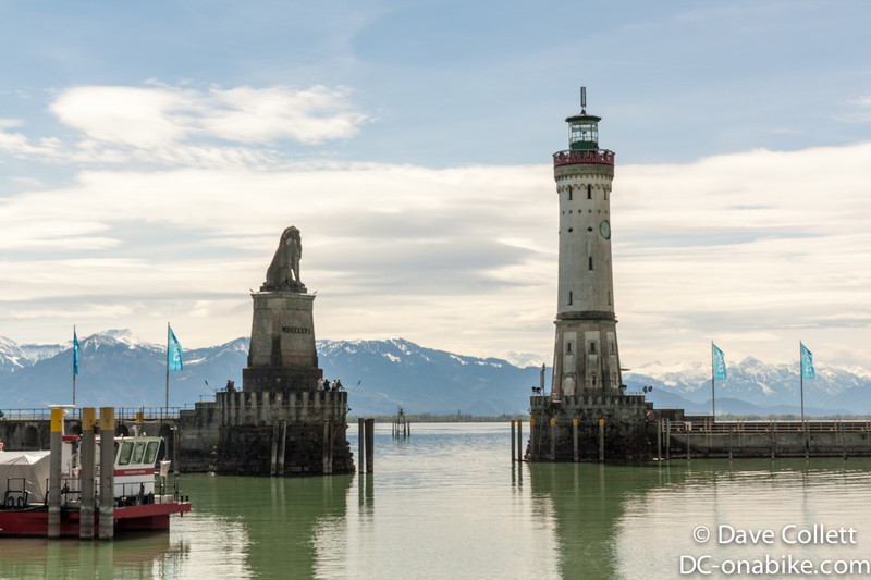 Entrance to the harbour in Lindau