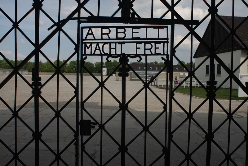 Arbeit Macht Frei - the gate into Dachau