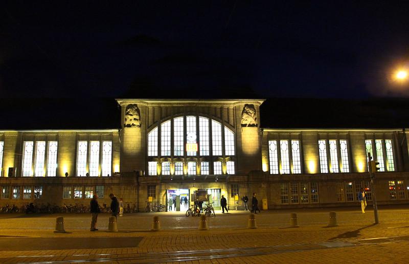 Darmstadt Germany, Art Deco Train Station