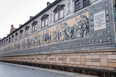 The Fürstenzug in Dresden, Germany