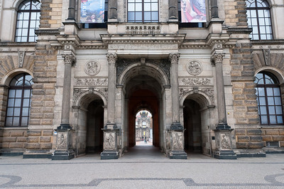 Northeastern entrance to Zwinger in Dresden, Germany