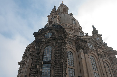 Looking up a building in Dresden, Germany