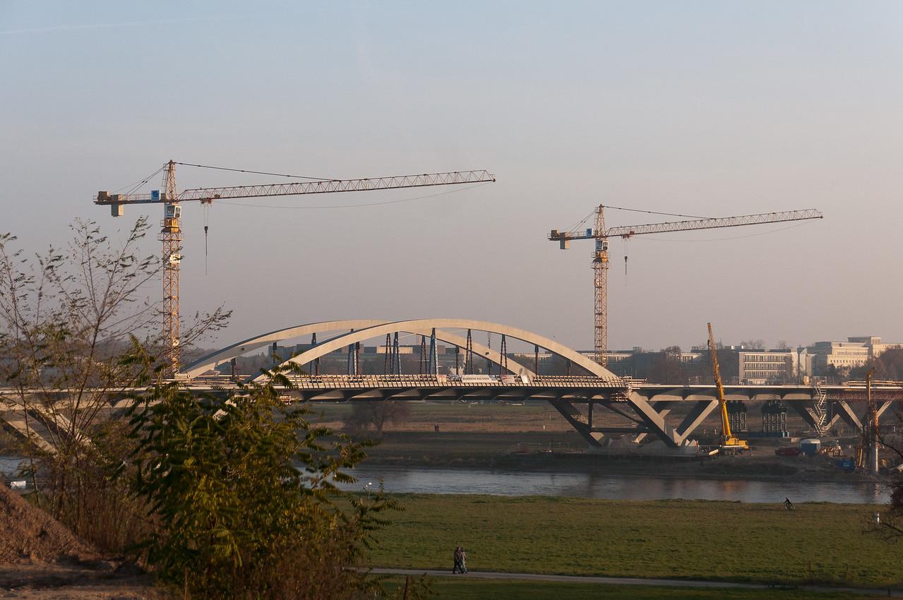 Waldschlösschenbrücke Bridge in Dresden, Germany
