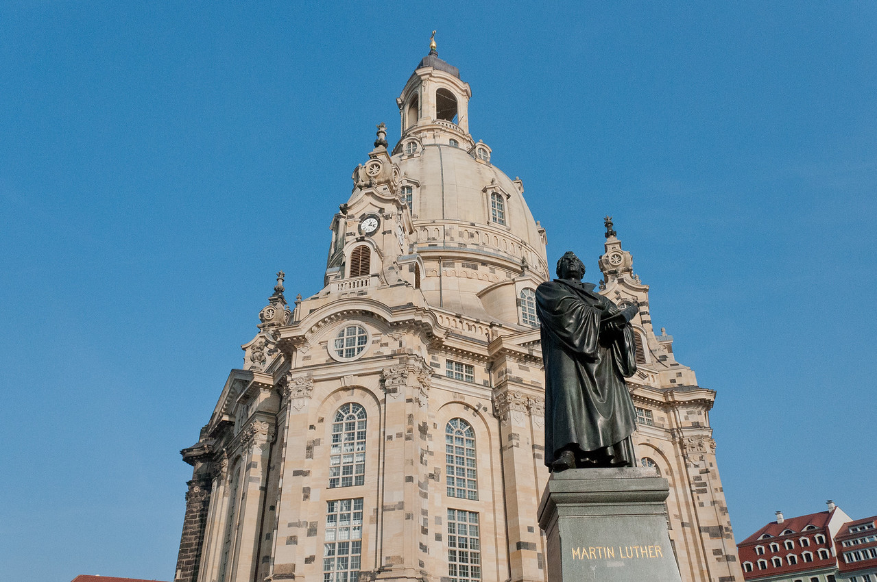 The Dresden Frauenkirche or Church of Our Lady in Dresden, Germany