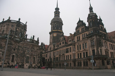 The Clock Tower in Dresden, Germany