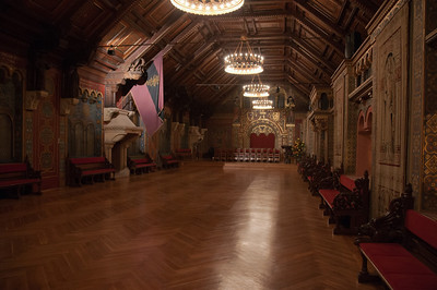 Interior design inside Wartburg castle in Eisenach, Germany