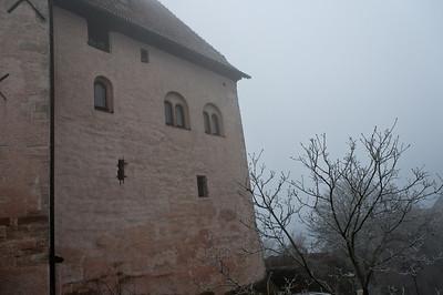 Shot of a brick wall in Wartburg, Eisenach, Germany